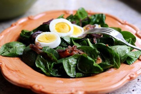 spinach salad recipes bacon dressing