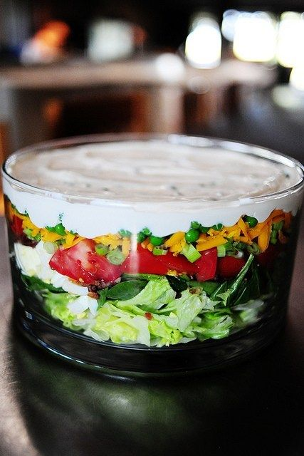 spinach salad recipes layered salad