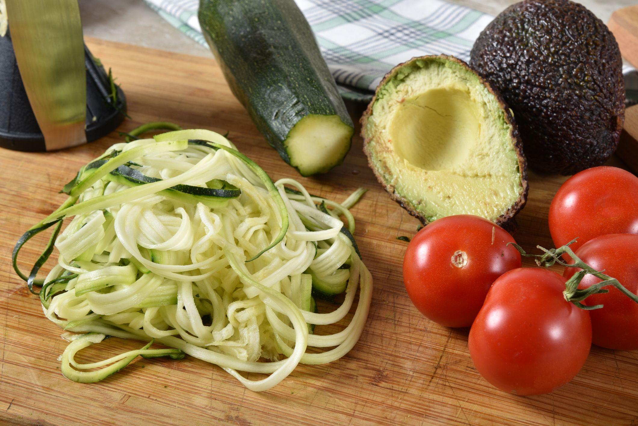 """Zucchini """"Linguine"""" Shakshuka"""