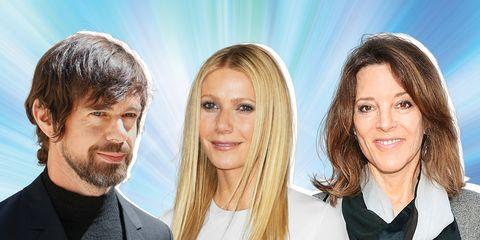 Spiritual Snobs Jack Dorsey, Gwyneth Paltrow, Marianne Williamson