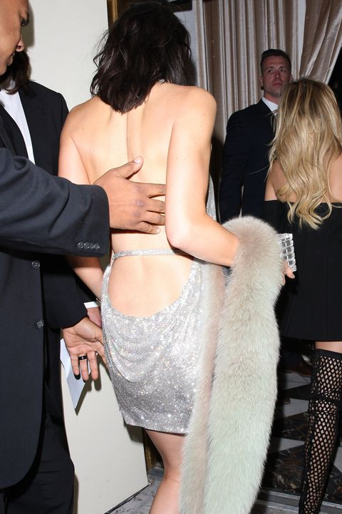Kendall Jenner Silver Birthday Dress