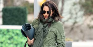 Meghan Markle heads to afternoon yoga in Toronto, Canada.
