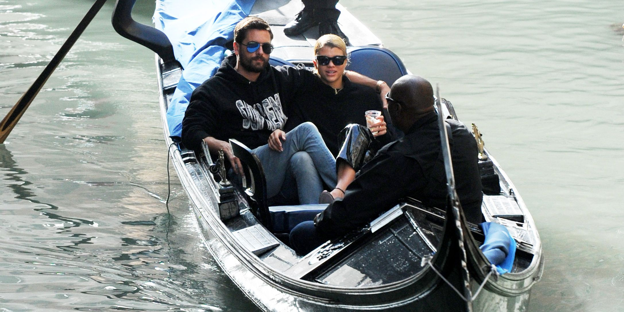 Scott Disick and Sofia Richie Cuddled on a Gondola in Venice