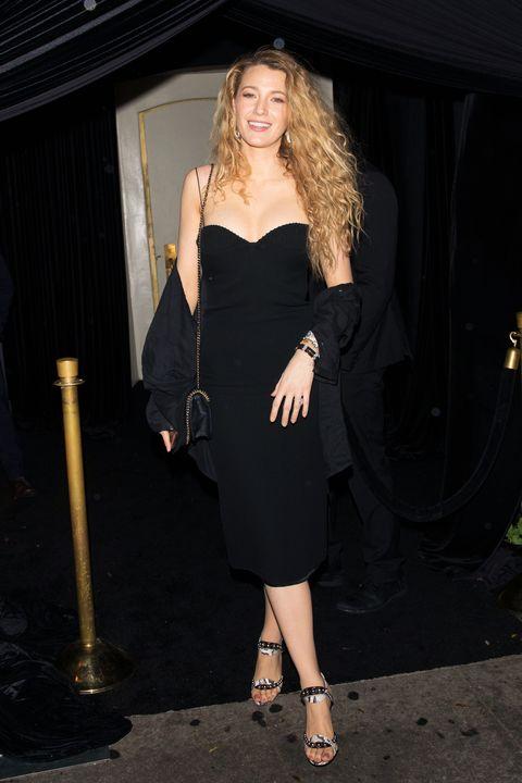 Blake Lively In Black Mini Dress With 90s Curls Blake Livelys