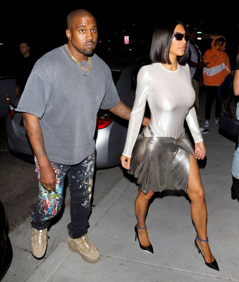 d34a72cbcac4c EXCLUSIVE: Kim Kardashian channels Barbarella on a night out with husband Kanye  West in LA