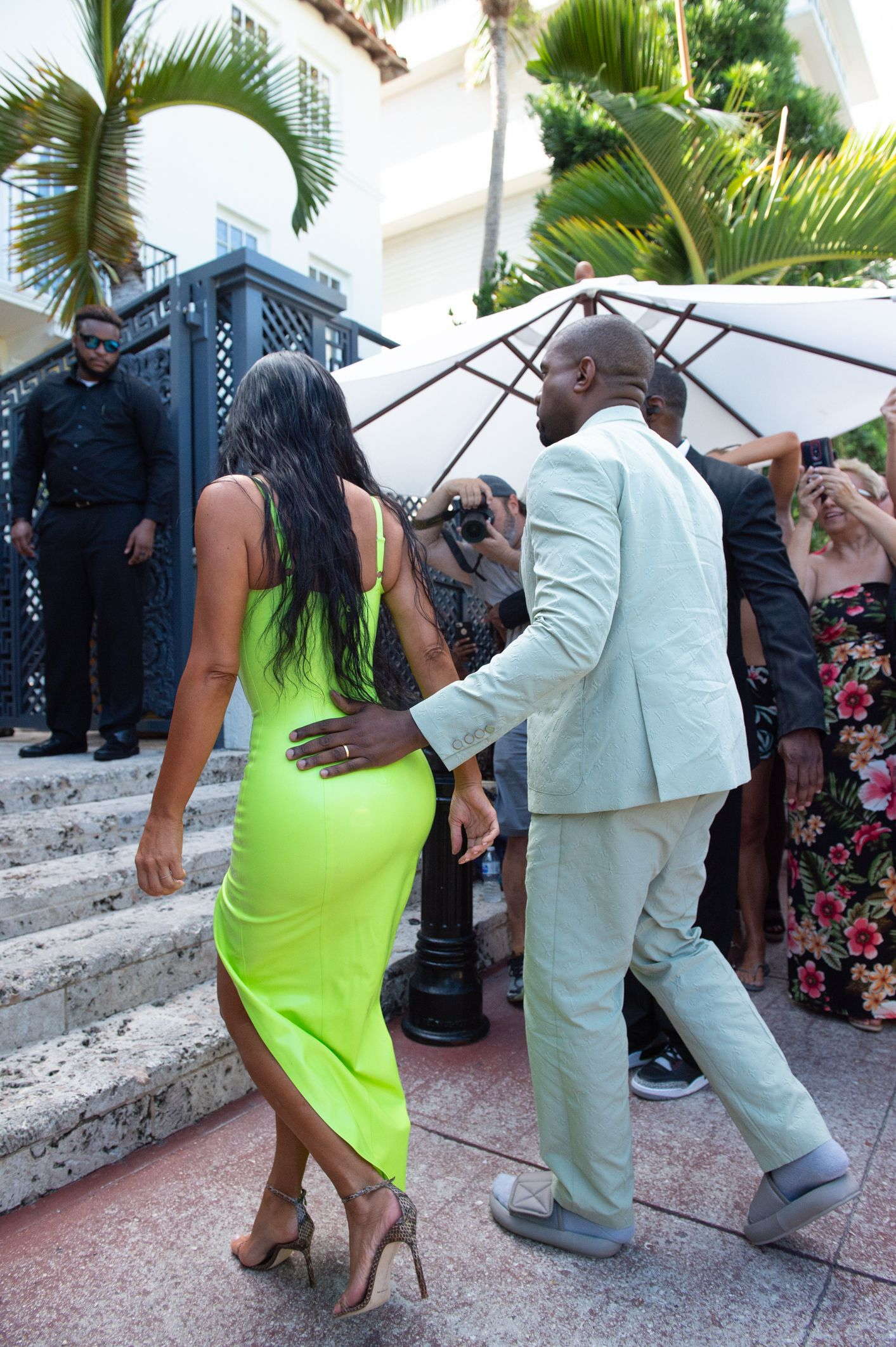 db3a5724c23 Kanye West Explains Why His Yeezy Slides Didn t Fit at 2Chainz s Wedding