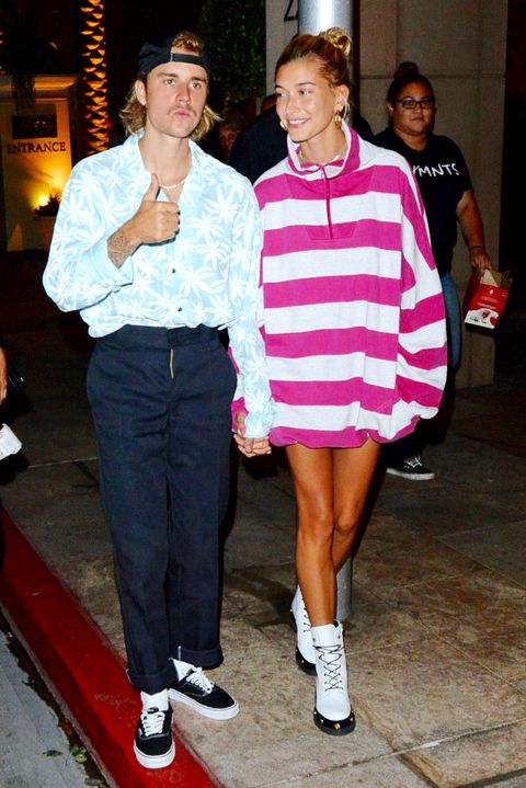 9d8b199eb7a50 Justin Bieber And Haley Baldwin Go To Dinner After Church In Los Angeles