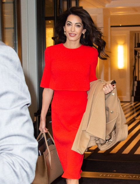 Amal Clooney Wore a Powerful Red Dress to the United Nations General Assembly