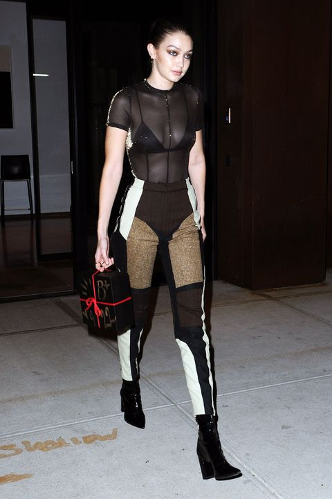 71dcdb83 Gigi Hadid Heads To Bella Hadids Birthday Party In New York