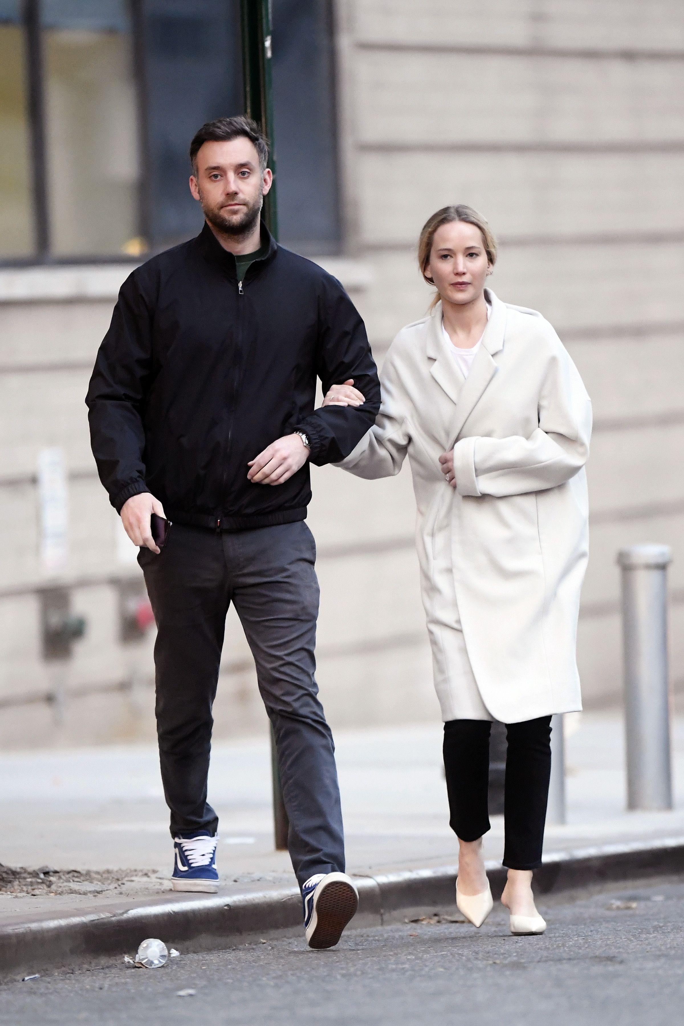 Jennifer Lawrence and Her Fiancu00e9 Cooke Maroney ...