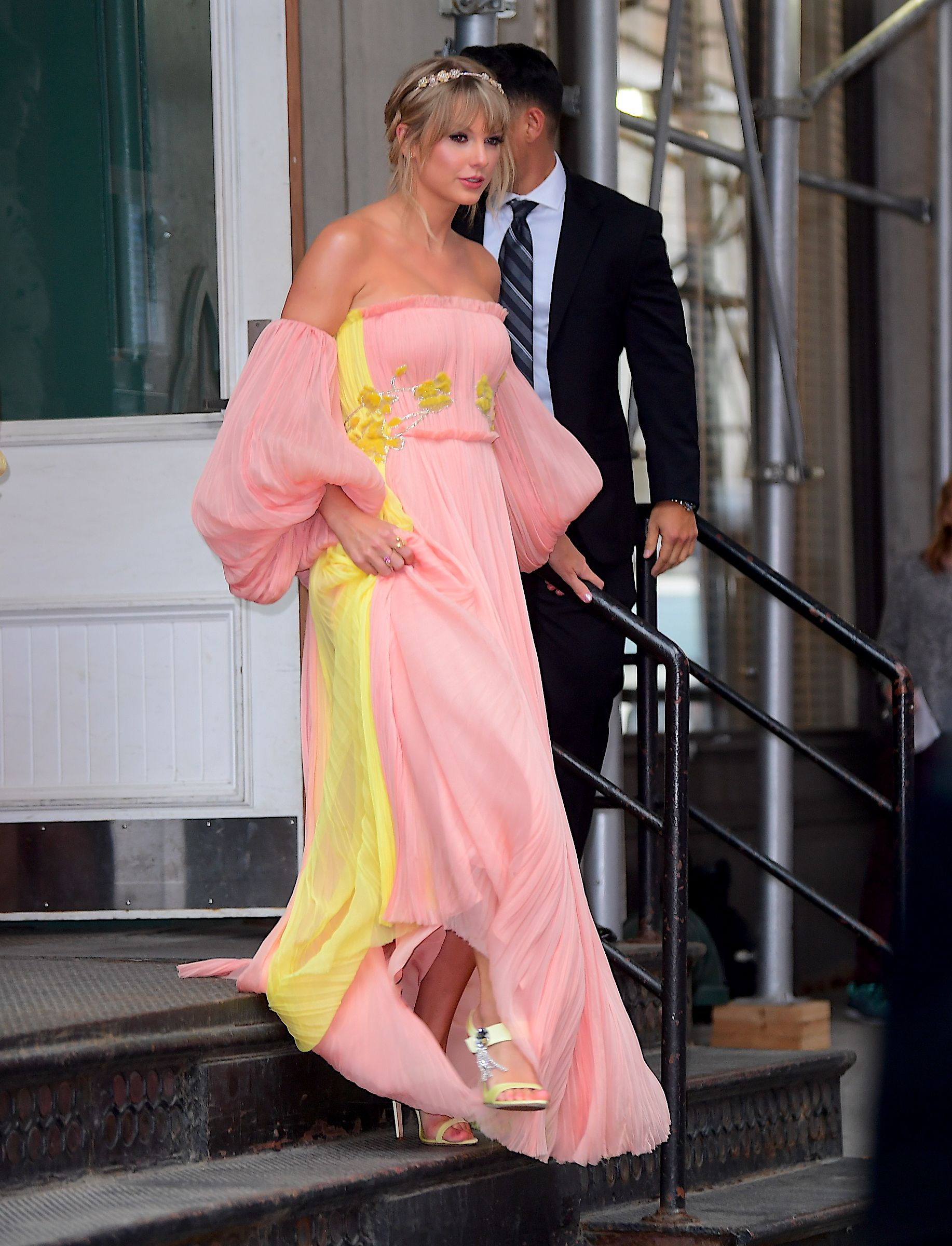 Taylor Swift Wore the Ultimate J. Mendel Pastel Princess Dress to Perform at Time 100 Gala
