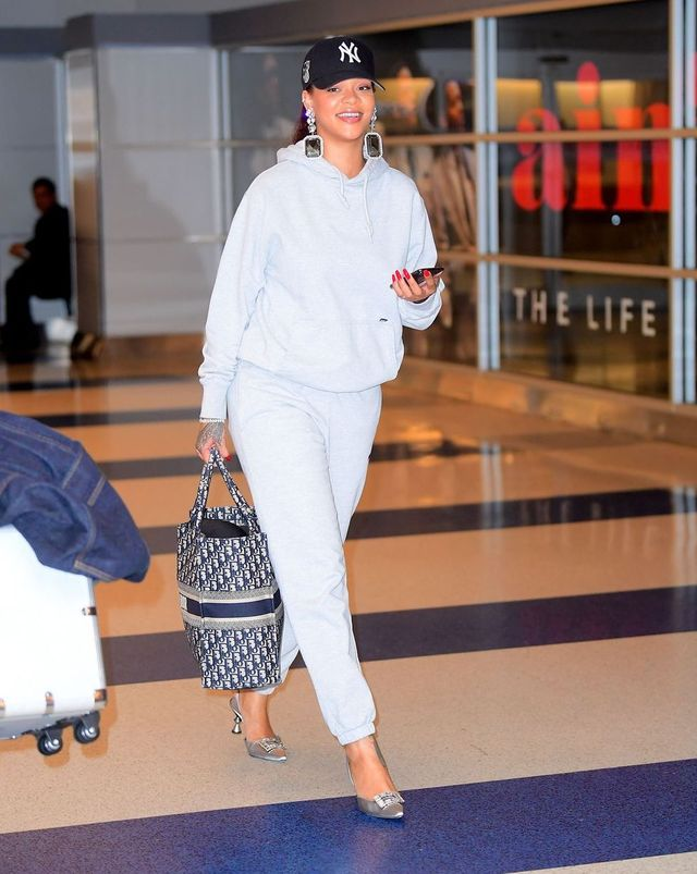 rihanna heels airport