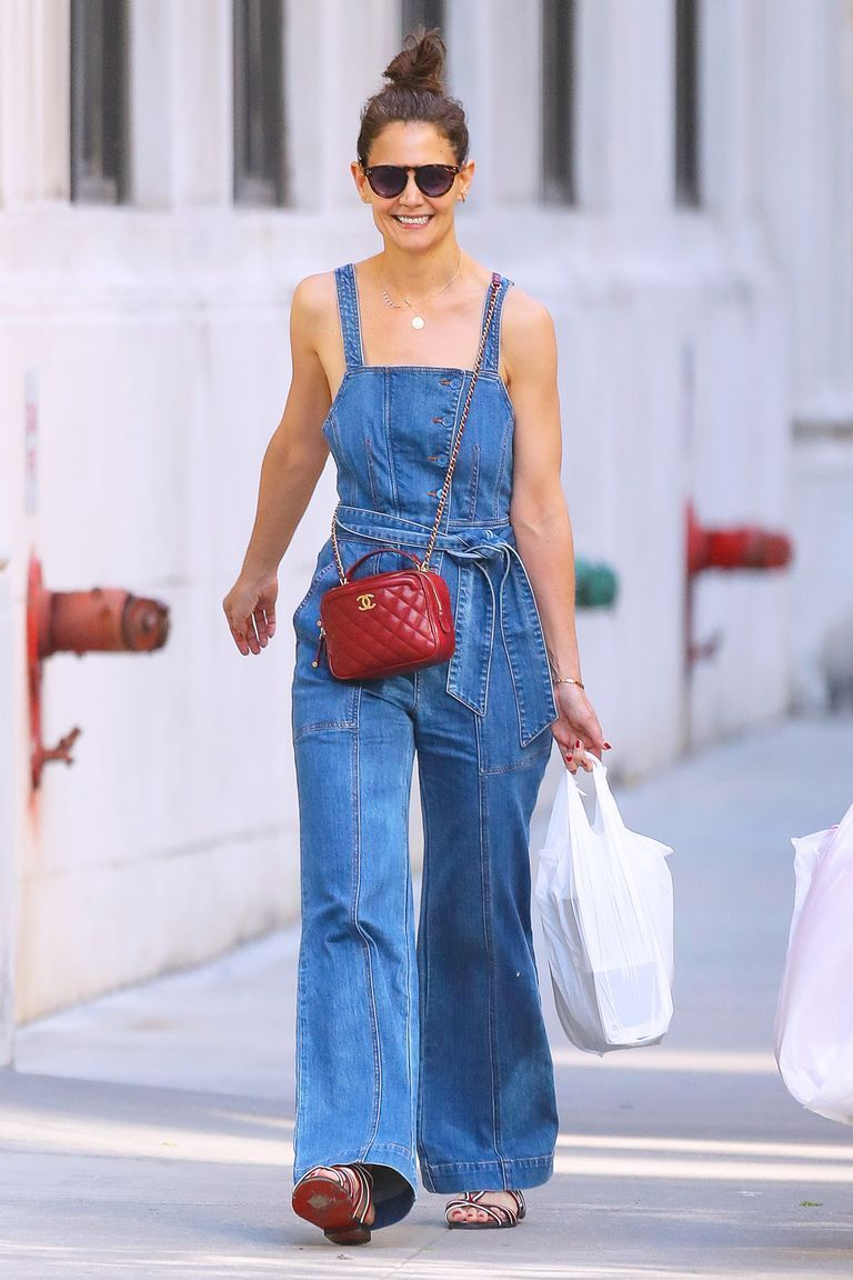 Katie Holmes' Denim Overalls From Ulla Johnson Are Perfect for Summer