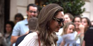 Angelina Jolie Leaving The Crillon