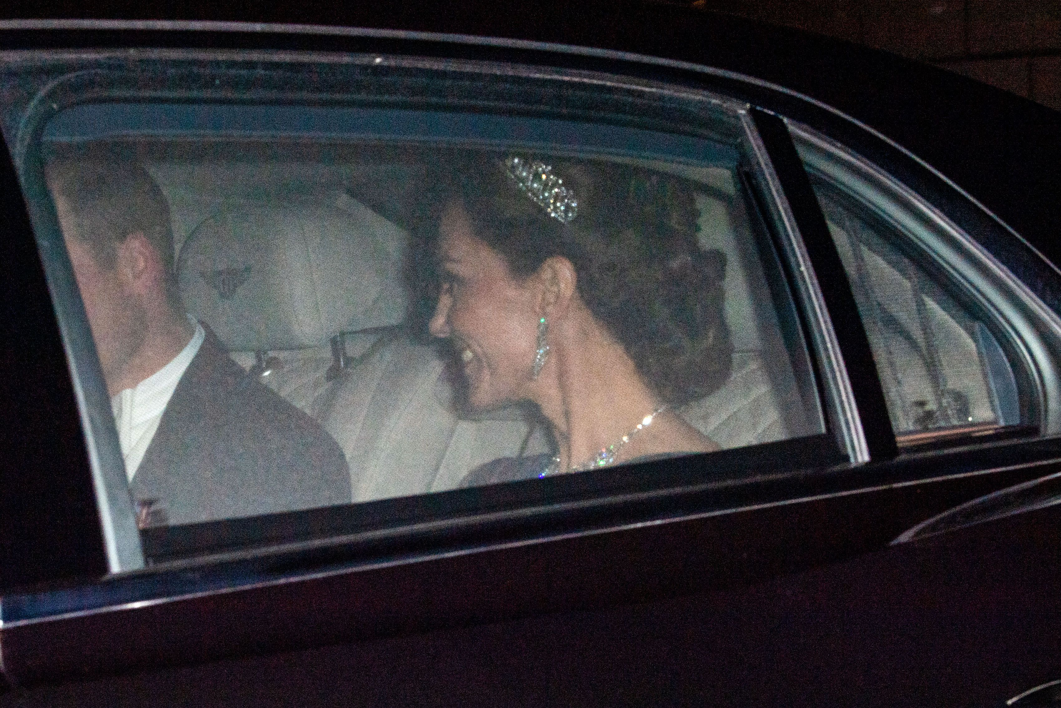 Kate Middleton Wears the Cambridge Lover's Knot Tiara and Diamond Earrings to the Queen's Diplomatic Corps Reception in 2019
