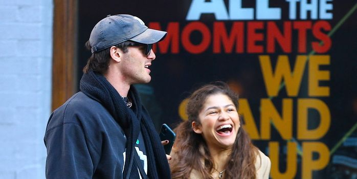 Zendaya and Jacob Elordi Look So Cute in Matching Sweats at the Sydney Airport