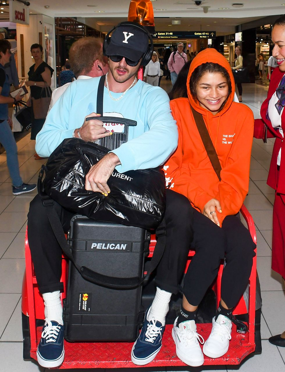 Zendaya and Jacob Elordi's Couple Airport Style Emphasizes Comfort Above All