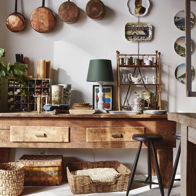 Furniture, Room, Shelf, Hutch, Interior design, Table, Shelving, Cabinetry, Desk, Building,