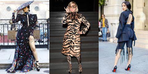 Fashion model, Clothing, Fashion, Street fashion, Footwear, Dress, Coat, Outerwear, Tights, Leg,