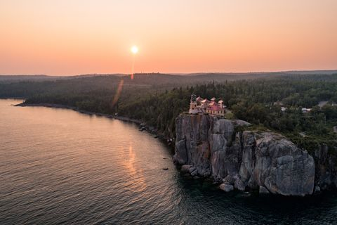 Split Rock Lighthouse at Sunset -L ake Superior