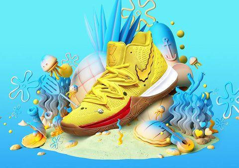 Illustration, Footwear, Aqua, Shoe, Art, Graphic design, Roller skates, Graphics,