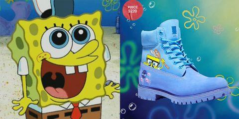 spongebob timberland boots