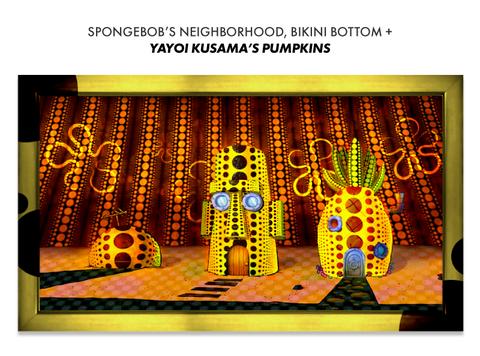 spongebobs house if designed by yayoi kusama