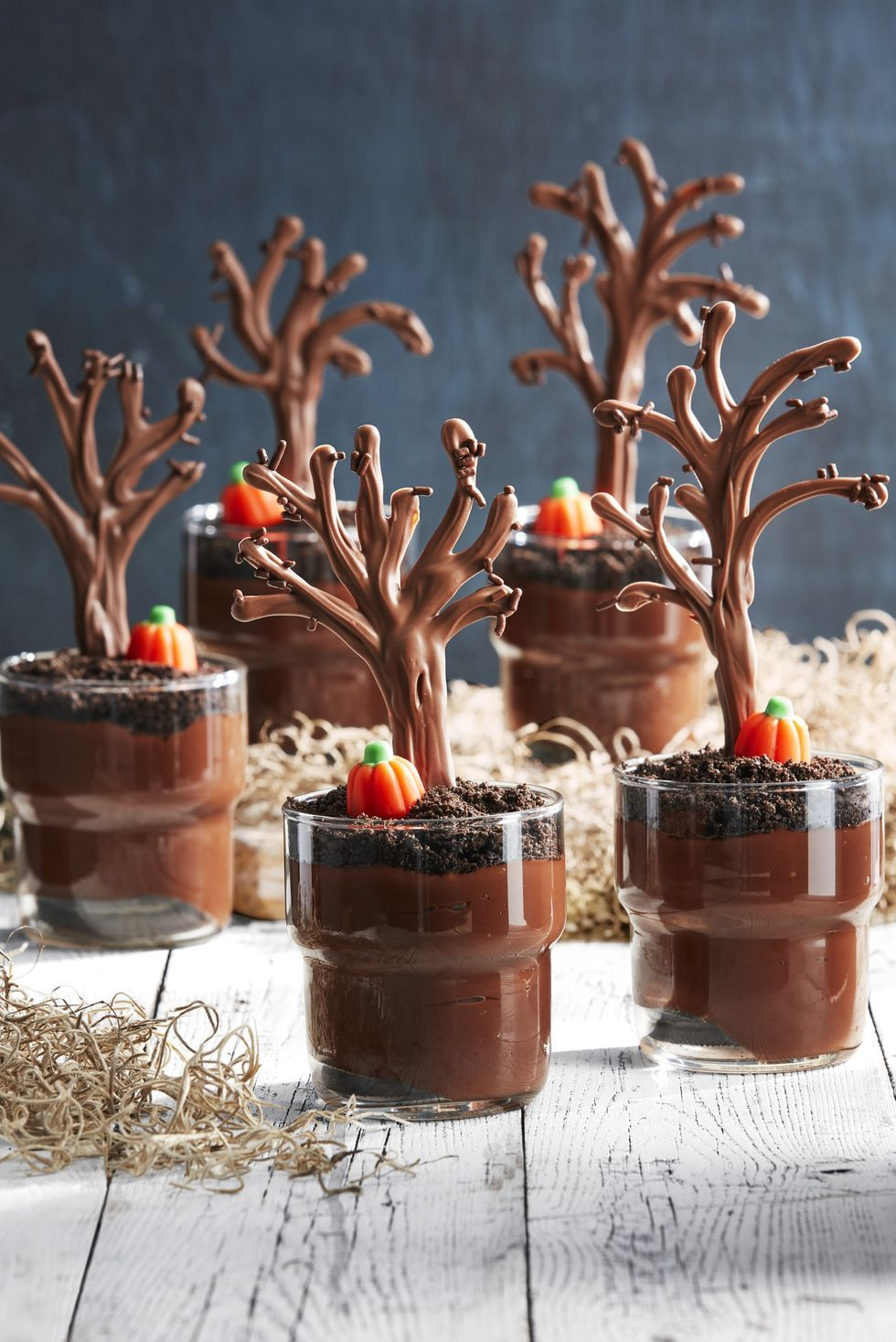 Spooky Forest Pudding Cups