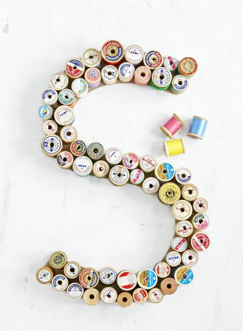 spool letter summer diy craft