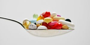 Spoon full of pills