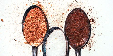 spoons with ingredients