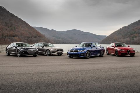 Starter Sports Sedan Rivalry: Alfa vs. BMW vs. Genesis vs. Volvo