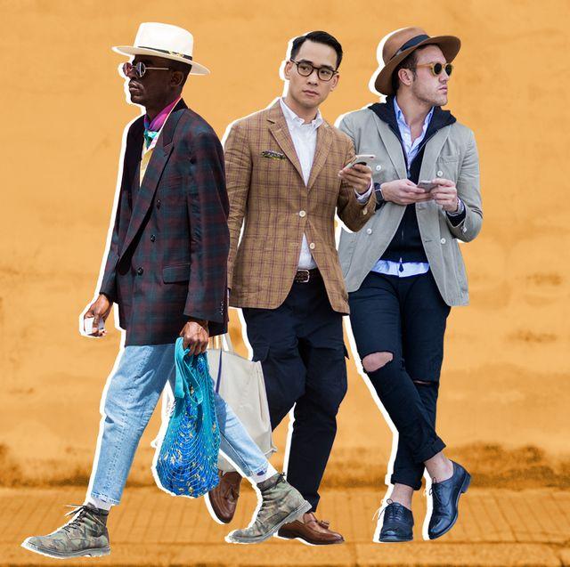 mens street style sport coat