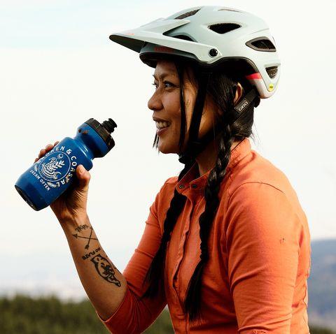 Helmet, Personal protective equipment, Headgear, Sports equipment, Photography, Bicycle helmet, Sports gear, Stock photography, Bicycle clothing,