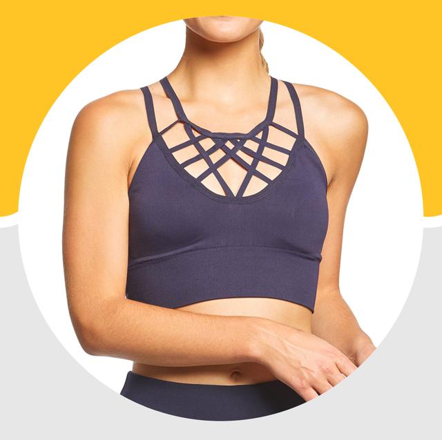 Brassiere, Undergarment, Clothing, Undergarment, Sports bra, Yellow, Crop top, Undershirt, Neck, camisoles,