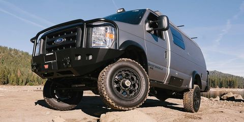 Sportsmobile Turns Ford's Classic E-Series into a Rugged Camping Rig