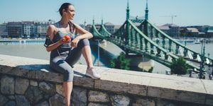 Sportswoman jogging