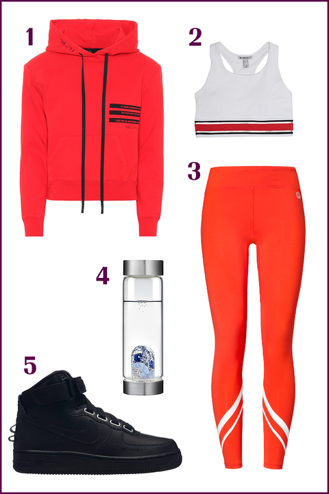 Clothing, White, Red, sweatpant, Sportswear, Product, Footwear, Active pants, Outerwear, Shoe,