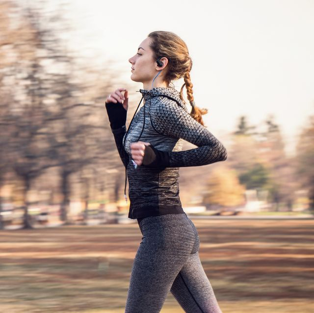 sporty woman jogging in the park