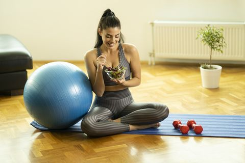 sporty woman living healthy life