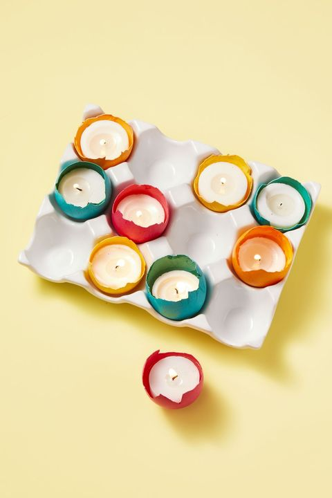 egg candle spring centerpiece