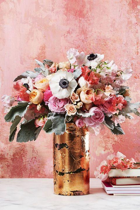 spring centerpieces - glam gold vase