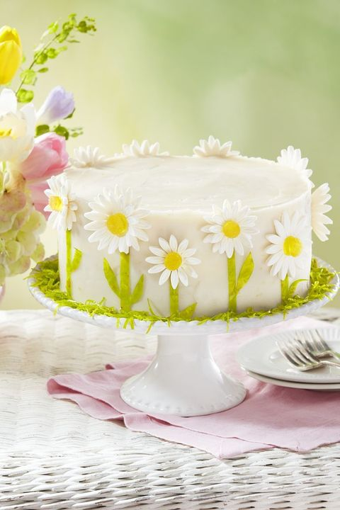 daisy cake easter party ideas