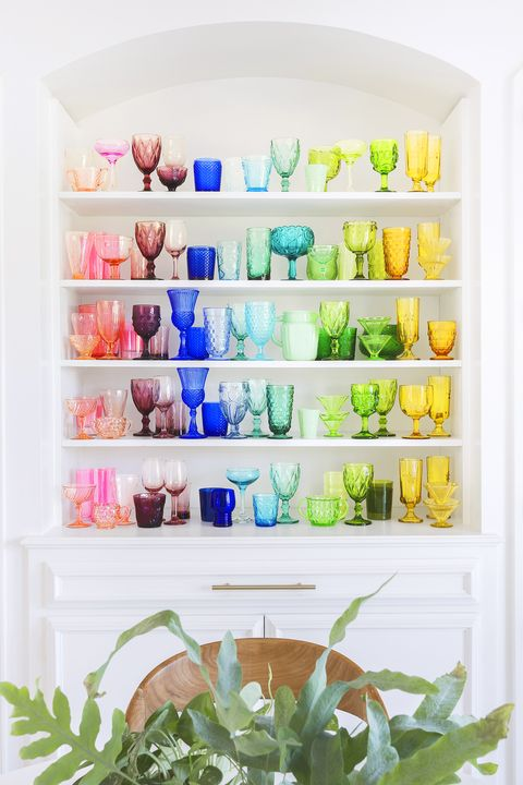 Spring Decor Ideas - Colored Glass