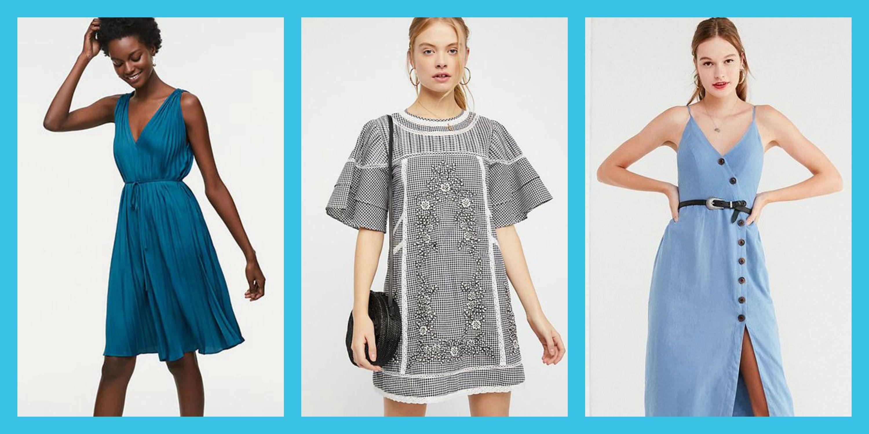 Blue Under Dresses for Spring 2018