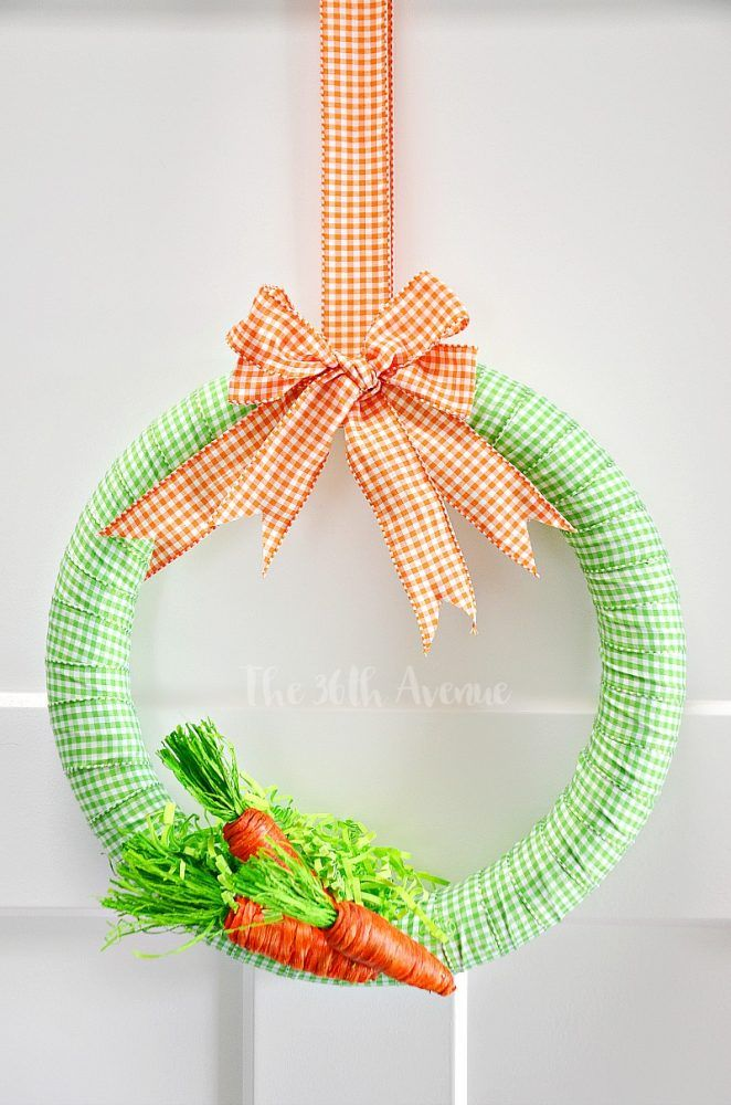 spring carrot wreath