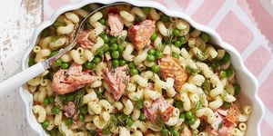 spring pasta with salmon peas and dill