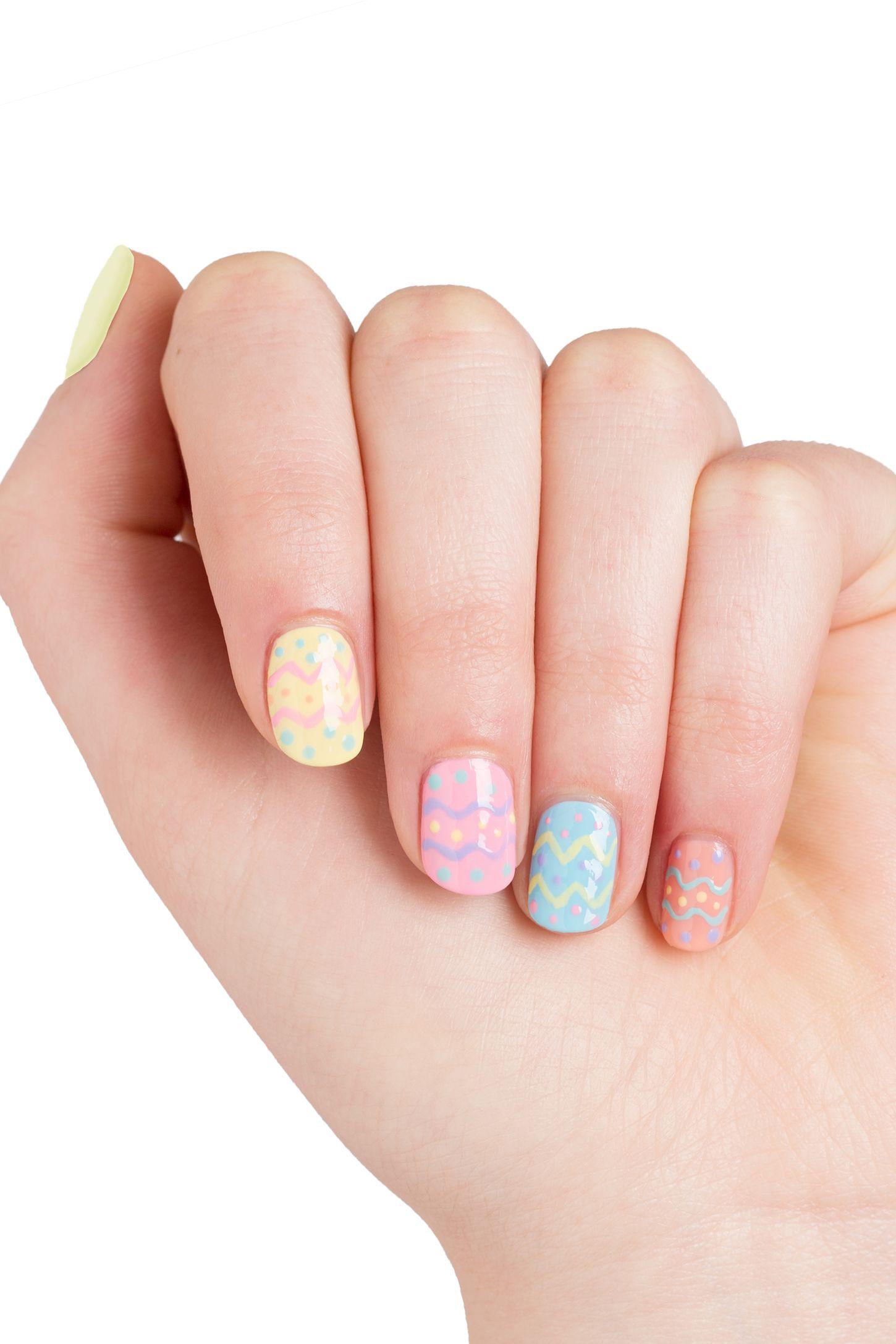 spring pastel easter nails