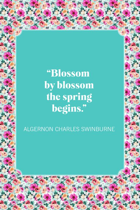 spring quotes algernon charles swinburne