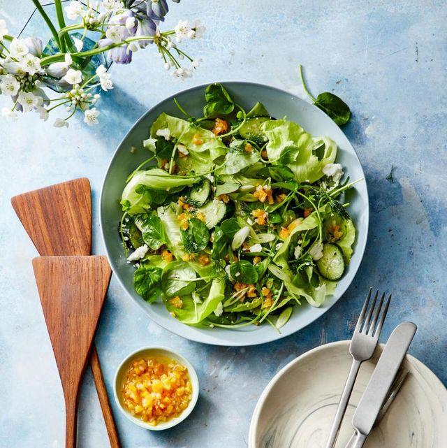 spring salad recipe with apricot vinaigrette